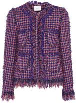 Erdem sold out Melanie fringed tweed jacket