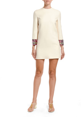 Valentino Embroidered-Cuff Dress