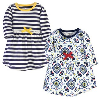 Touched by Nature Toddler Girl Long-Sleeve Organic Dresses, 2-Pack