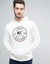 Tommy Hilfiger Circle Logo Hoodie in White