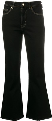 Versace High-Rise Flared Denim Jeans