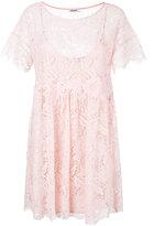 P.A.R.O.S.H. lace detail dress - women - Viscose/Cotton/Polyamide/Polyester - XS