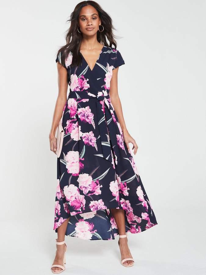 cbc89308c5d Floral Dip Hem Dress - Navy