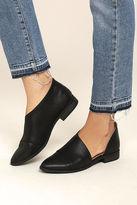 Qupid Karmen Black D'Orsay Pointed Toe Booties