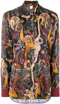 Paul Smith monkey print shirt - women - Silk/Polyamide/Acetate/Viscose - 38