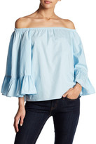 Do & Be Do + Be Off-The-Shoulder Flare Sleeve Blouse
