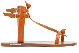 Isabel Marant Jint T-bar Leather Sandals - Tan