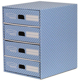 Fellowes Bankers Box Style 4 Drawer Storage Unit - Blue