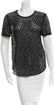 Equipment Short Sleeve Lace Top