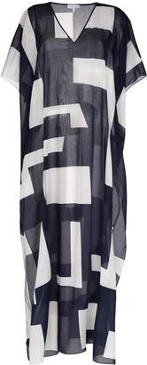 Odyssee V-neck semi-sheer kaftan dress