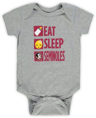 Outerstuff Infant Heathered Gray Florida State Seminoles Daily Agenda Creeper
