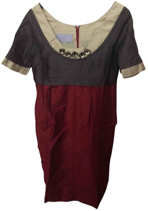 Vera Wang Burgundy Dress for Women