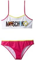 Moschino Kids Beach Logo Bikini (Big Kids)