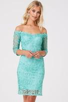 Paper Dolls Wilton Mint Lace Bardot Dress