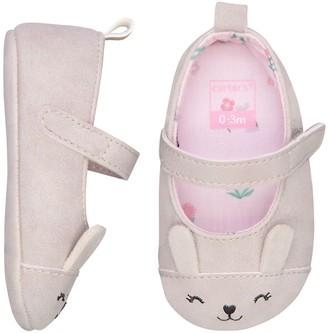 Carter's Baby Girl Bunny Mary Jane Crib Shoes