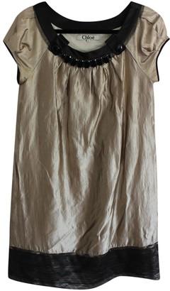 Chloé Gold Cotton Dresses