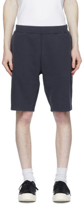 Sunspel Navy Loopback Shorts