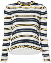 Derek Lam 10 Crosby striped ribbed jumper - women - Cotton - XS