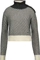 Derek Lam Paneled Wool-Blend Turtleneck Sweater