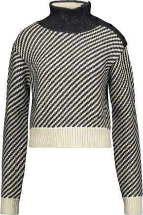 Derek Lam Paneled Wool-Blend Turtleneck Sweater