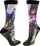 Bioworld Zelda Majora's Mask Men's Sublimated Crew Socks