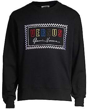 Versace Men's Logo Cotton Crewneck Sweatshirt