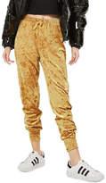 Topshop Velvet Jogger Pants