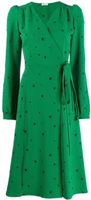 P.A.R.O.S.H. star print wrap dress