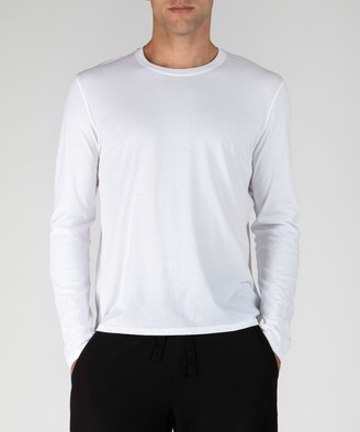 Atm Classic Jersey Long Sleeve Crew Neck Tee - White