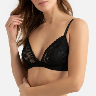 La Redoute Collections Recycled Lace Underwired Triangle Bra