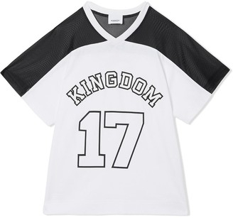 BURBERRY KIDS TEEN Kingdom print T-shirt