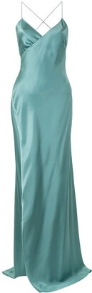 Mason by Michelle Mason Strappy Wrap Gown