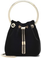 Jimmy Choo Bon Bon velvet bucket bag