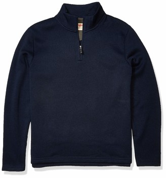 Wrangler Authentics Mens Sweater Fleece Quarter-Zip