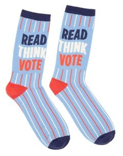 Out of Print Read Think Vote Socks Large (Other)
