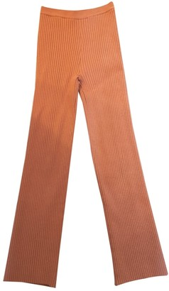 giu giu Pink Cotton Trousers for Women