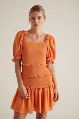 Seed Heritage Shirred Mini Dress