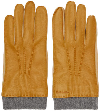 Paul Smith Tan Leather Gloves