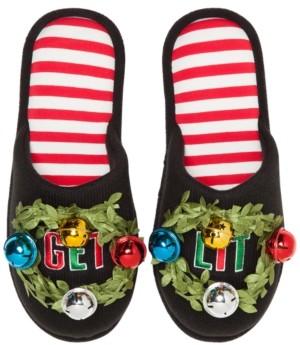 Dearfoams Festive Closed-Toe Scuff Slippers, Online Only