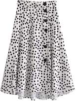 Goodnight Macaroon 'Randi' Polka Dot Midi Flare Skirt