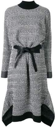 Stella McCartney patterned-knit belted dress