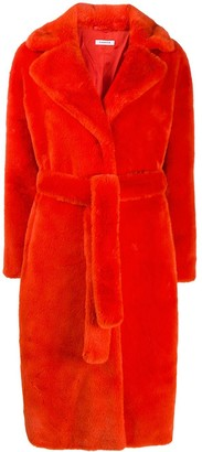 P.A.R.O.S.H. Faux-Fur Belted Coat