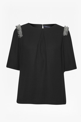 French Connection Bugle Fringe Tunic Top