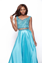 Milano Formals - Beaded Two-Piece Chiffon Cocktail Dress E2020