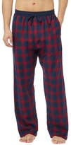 Red Herring Big And Tall Red Checked Pyjama Bottoms