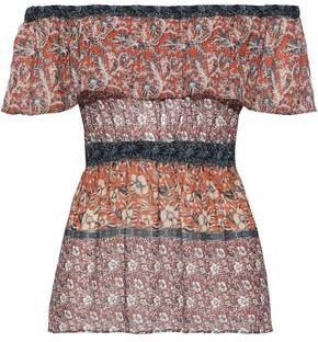 Bailey 44 Sri Lanka Off-the-shoulder Layered Printed Woven Top