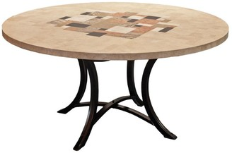 Channel Enterprises Picasso Round Travertine Outdoor Dining Table