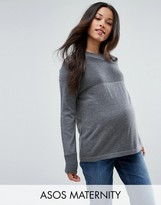 Asos Jumper With Ripple Stitch Detail