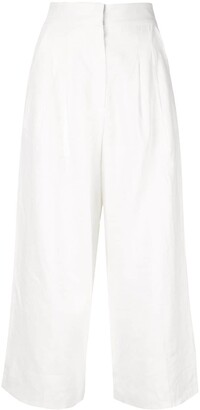 Bambah Cropped Wide-Leg Trousers
