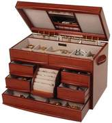 Mele Six Drawer Jewelry Box with Center Inlaid Design - Empress